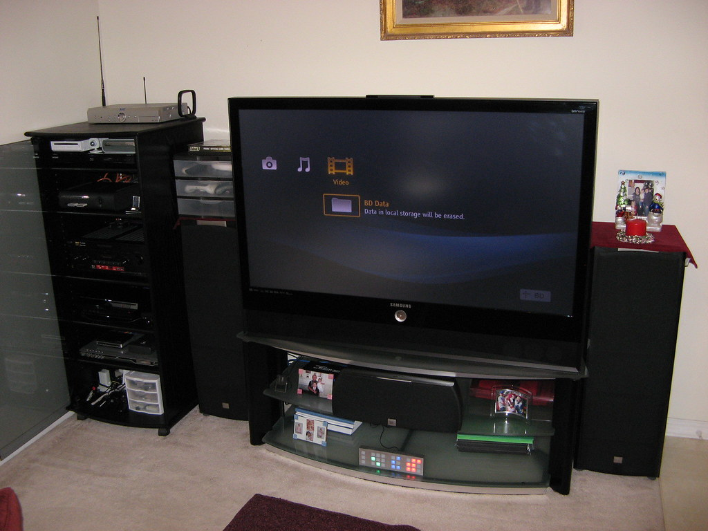 Home Theater Front with Blu-ray Player