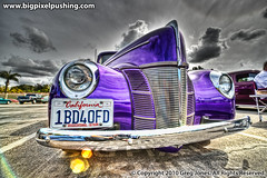 One Bad '40 Ford (big_pixel_pusher) Tags: sedan purple sony 1940 headlights tudor santaana v8 carshow lowangle sigma14mm bppfoto bigpixelpusher bigpixelpushing wwwbigpixelpushingcom dslra850 1bd40fd worldmachineshdr