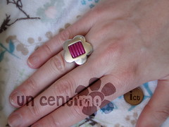 Anillo cuero y pieza baada en plata (uncentimo) Tags: anillos