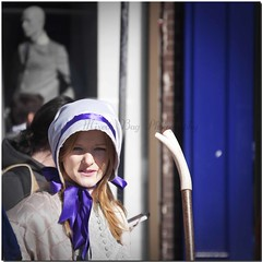 Complex Angel (Sushil) Tags: street door blue ireland portrait dublin angel scarf geotagged photography bell head covered stick complex grafton canon50d geo:lat=53339925 geo:lon=6260694