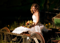 Trash the Dress Tram Junkyard (Bel {Garland Photography}) Tags: wedding trash bride dress junkyard