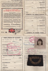 My mother's War Correspondent's Licence (Sibad) Tags: vienna austria vogue ww2 warcorrespondent barbarabaddeley controlcommission britishwarcorrespondent theodorabaddeley occupiedvienna