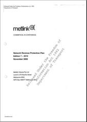 Metlink Network Revenue Protection Plan cover