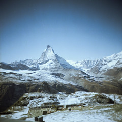 Matterhorn (boscoppa) Tags: mountain 120 6x6 switzerland fuji superia gornergrat fujifilm matterhorn halina prefect