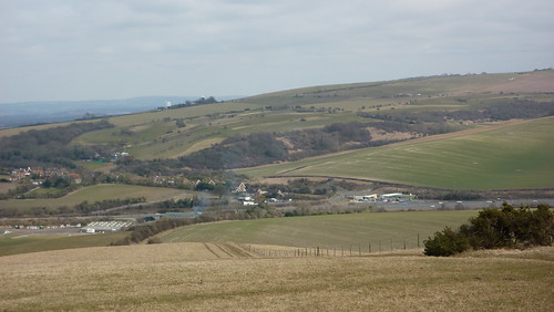 Pyecombe in the distance