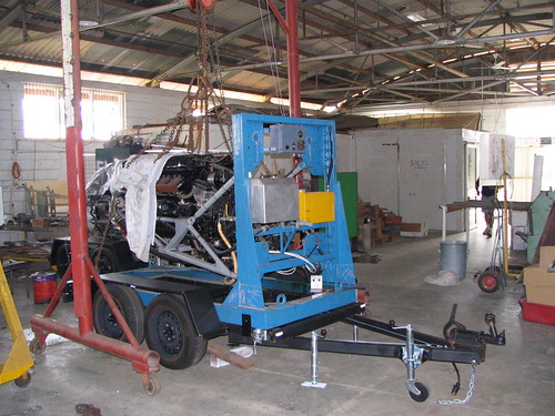 AHSNT's Rolls Royce Merlin Engine and Trailer January 2006