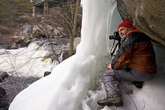 Getting that shot (bright_side) Tags: earlyspring wintercamping lakemccrae