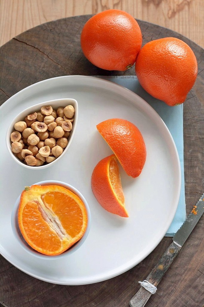 Ingredients for Orange Hazelnut Biscotti