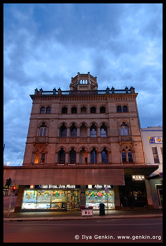 Ballarat Architecture at Twilight, Corner Sturt and Lydiard Streets, Ballarat, VIC, Australia