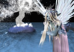 Hovering (Riley Mensing) Tags: avatar medieval sl avatars fairy fantasy secondlife elementa mysticalmagical