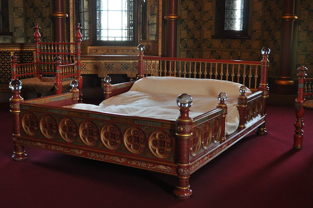Castell Coch, Bed, Lady Bute's Bedroom
