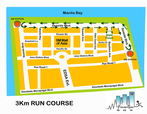 Finex Run 2010 - 3K Race Route