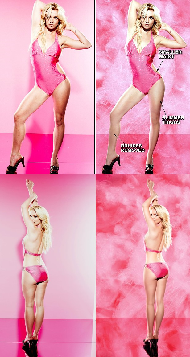 Thumb Britney Spears en Candie: Con y sin Photoshop