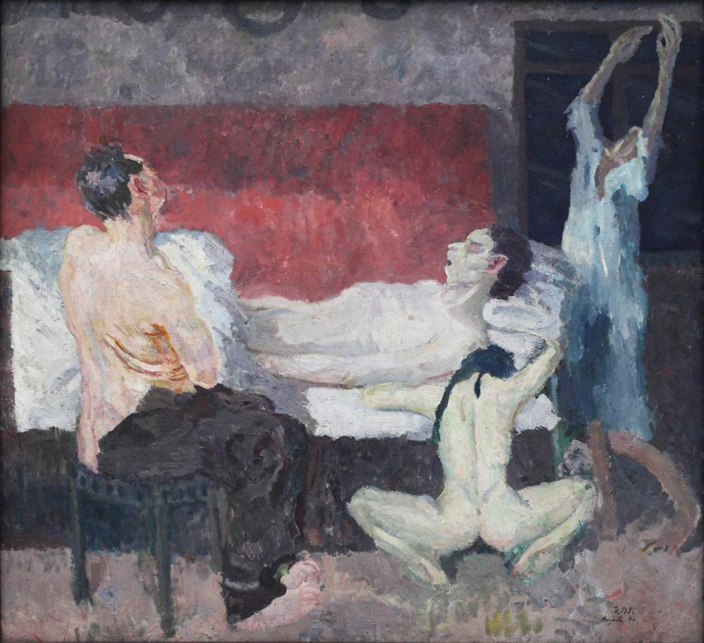 Max Beckmann, Groβe Strebeszene [Large death scene], 1906