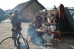Abendbrot für die Wikinger-Darsteller in Haithabu - Museumsfreifläche Wikinger Museum Haithabu WHH 19-04-2009