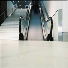 Internal (Brendan_Timmons) Tags: longexposure blur 120 6x6 tlr film airport escelator yashicamat yashinon 80mmf35