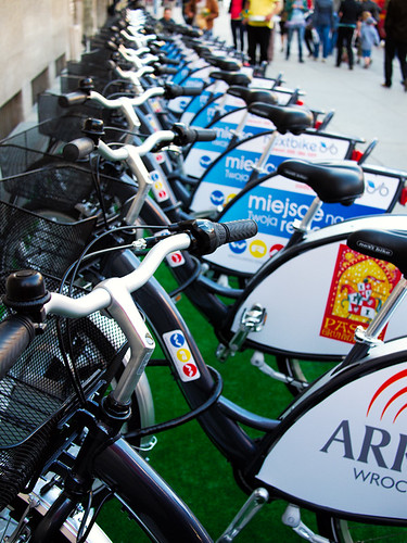 Wroclaw's rent-a-bike system showoff