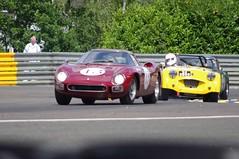 1965 Ferrari 250 LM and a 1954 Triumph TR2 (Dave Hamster) Tags: 2001 car 1954 ferrari historic triumph legends lm 13 34 lemans motorracing 250 motorsport 1965 autosport tr2 lemans24hours legendsracing ferrari250lm triumphtr2