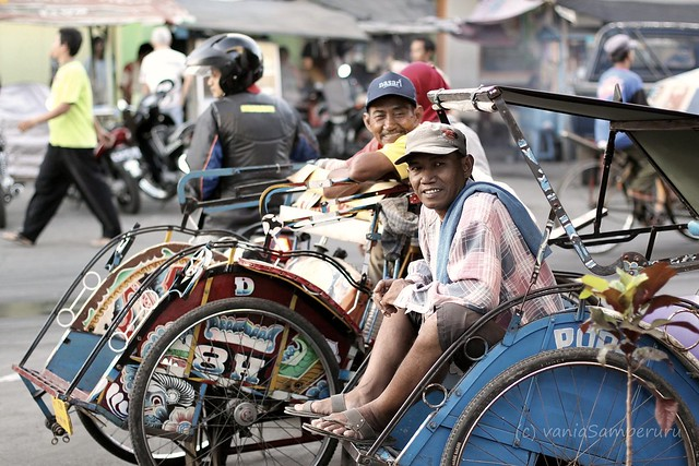our favorite vehicle; becak!