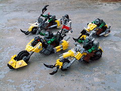 Bikers (Jerac) Tags: lego gang bikers ork wh40k