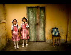 We hate School (Shutterfreak ☮) Tags: school girls rural uniform