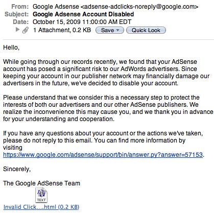 Google AdSense Phishing Scam