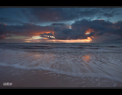 Just Another Sunset (Dale Allman) Tags: ocean sunset seascape motion beach nature water clouds canon sand surf waves australia wideangle explore adelaide southaustralia 1740 henleybeach darylbenson canon5dmkii 5dmkii