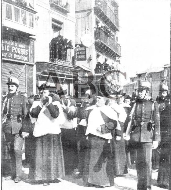 Entierro del cardenal Sancha. ABC del 1 de marzo de 1909