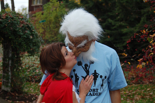 Halloween 2009: Me givin' my old man some lovin.