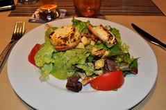 Salade au chévre chaud - ensalada caliente de queso de cabra
