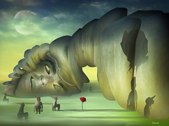Observados (marcarambr) Tags: moon man face photomanipulation photoshop marcel surrealism digitalart magritte dali salvadordali artedigital breton chirico surrealismo fantasyart surreale marcarambr coth5 theoriginalgoldseal computersurrealism