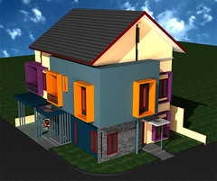 Desain Rumah-Minimalis Sudut di Cibubur-1 by Indograha Arsitama  Desain & Build