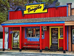 The best bagels in town !!! (Jerry T Patterson) Tags: jackson bagels tetons