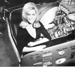 "Linda Vaughn in the back of Oldsmobile ""4-4-2 Much"" (torinodave72) Tags: girl golden linda nascar firebird miss vaughn pure shifter hurst nhra"