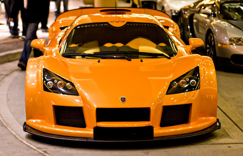 The Gumpert Apollo, which can get away with this color.