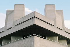 National Theatre (suburbanslice) Tags: urban colour slr london film architecture 35mm geotagged concrete 50mm nikon southbank waterloo nikkor50mmf18 southlondon lambeth brutalism brutalist nationaltheatre fe2 londonist southbankcentre denyslasdun royalnationaltheatre londonboroughoflambeth btonbrut lblambeth