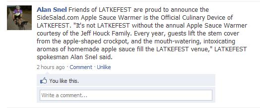 Latkefest Announcement