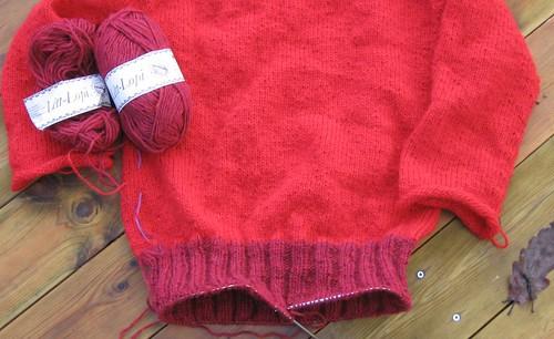 Framdrift rød genser