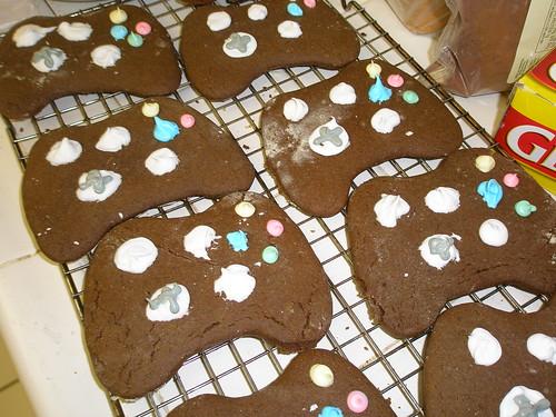 Gingerbread 360 Controller Cookies