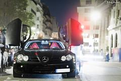 Mercedes SLR McLaren [EXPLORE] (Valkarth) Tags: red black paris france slr night canon rouge eos mercedes photo julien europe shoot noir doors open shot interior sigma spot mclaren 5d julius nuit f28 f4 spotting mkii markii 70200mm photographe valk 5d2 valkarth fautrat