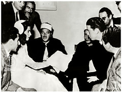 Samia Gamal In The Widding Day, The Groom's Sheppard King III (Later Abdullah) The Texas Oil Heir - Cairo on Nov. 29, 1951 (Tulipe Noire) Tags: africa groom bride king artist egypt middleeast husband dancer belly cairo 1950s egyptian actress wife samia sheppard 1951 abdullah gamal widding texican