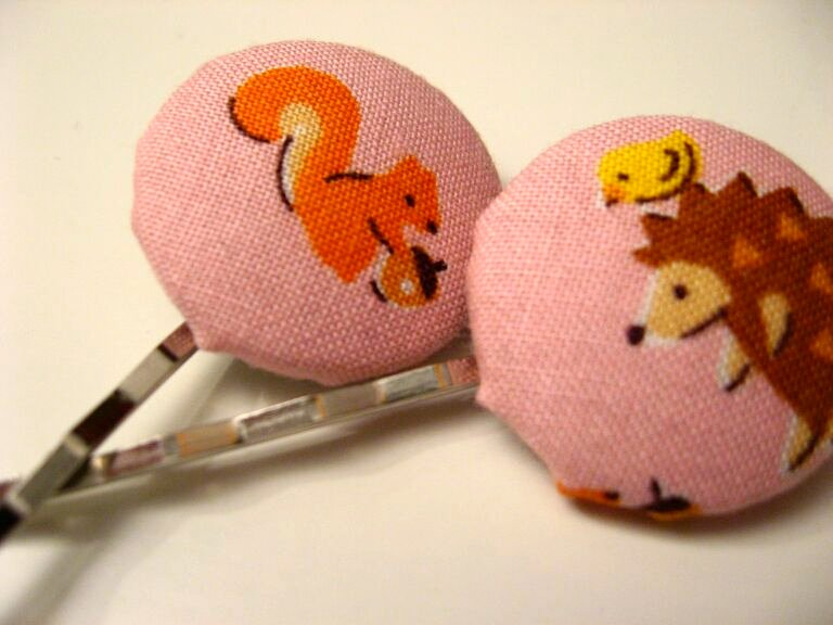fabric covered hairpin