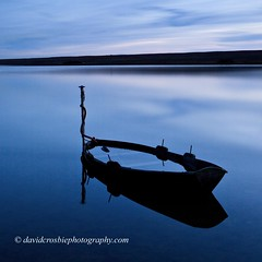 Fleet Lagoon, Dorset - Twilight (David Crosbie) Tags: winter boat twilight dorset fleet weymouth chesilbeach abbotsbury imagepoetry soulscapes topseven fleetlagoon superaplus aplusphoto theunforgettablepictures floodedboat scenicsnotjustlandscapes