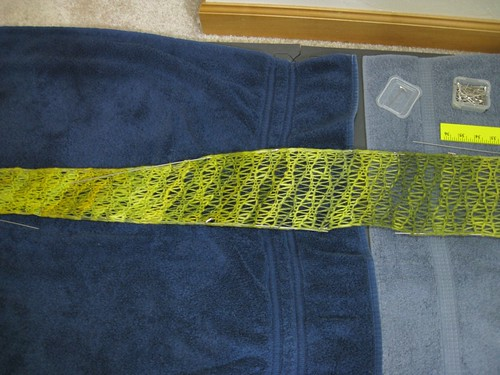 Inara scarf: During blocking
