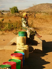 Punto de agua en M'angola