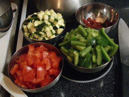 ZucchinitomPastePeppersTomatoes