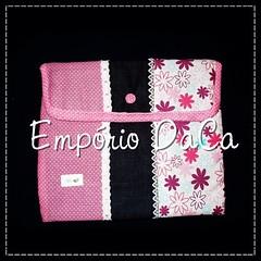 Capa de Notebook Pink (emporiodaca) Tags: notebook handmade artesanato notebookbag capadenotebook empóriodaca