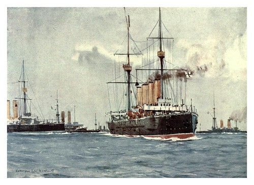 016- Cruceros de maniobras-The Royal Navy (1907)- Norman L. Wilkinson