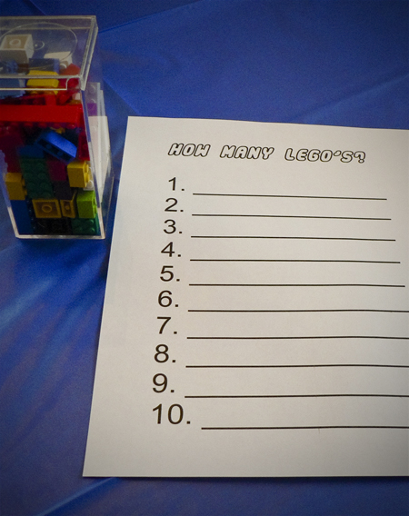 lego birthday party game