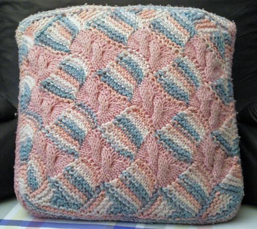 Entrelac pillow